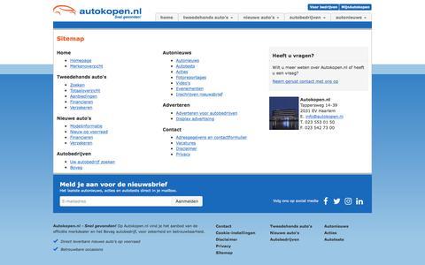 Screenshot of Site Map Page autokopen.nl - Sitemap | Autokopen.nl - captured Sept. 24, 2018
