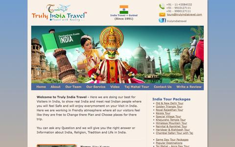 Screenshot of Team Page trulyindiatravel.com - Truly India Travel™ - Welcome to Colorful India - captured Oct. 9, 2014