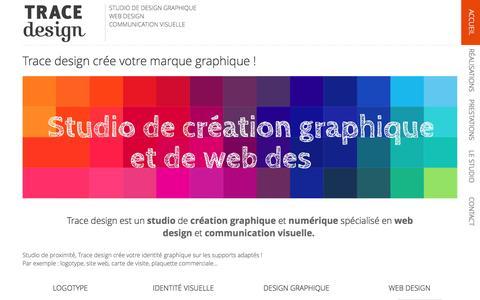 Screenshot of Home Page trace-design.fr - TRACE design | Studio de design graphique et web design - captured Dec. 1, 2016