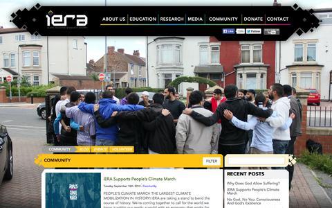 Screenshot of Blog iera.org - iERA | Community Blog - captured Sept. 22, 2014