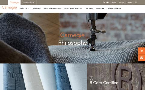 Screenshot of About Page carnegiefabrics.com - Carnegie Fabrics   Commercial Drapery Fabric & Performance Upholstery - captured Sept. 27, 2018