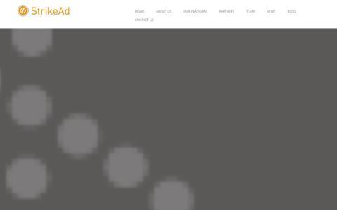 Screenshot of Home Page strikead.com - HOME | StrikeAd Programmatic Mobile Advertising - captured Sept. 17, 2014