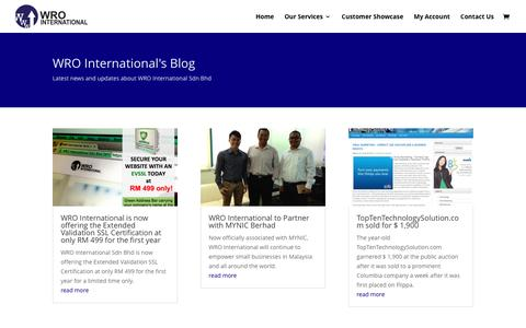 Screenshot of Blog wrointernational.com - WRO International: Build Online Platform For Business - captured June 5, 2016