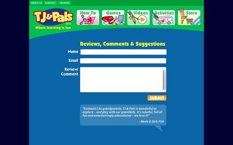 Screenshot of Contact Page tjandpals.com - TJ AND PALS - captured Dec. 1, 2016