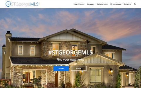 Screenshot of Home Page stgeorgemls.com - St. George & Southern Utah Area MLS - captured Sept. 20, 2015