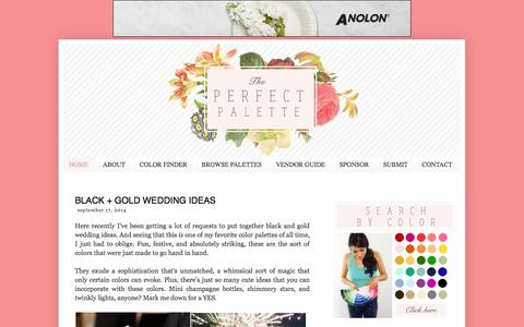 Screenshot of Home Page theperfectpalette.com - The Perfect Palette - captured Sept. 19, 2014