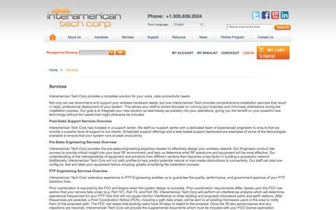 Screenshot of Services Page itamtech.com - Services - captured Nov. 26, 2016