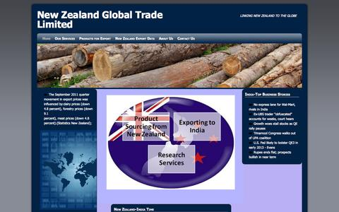 Screenshot of Home Page nzgtl.com - New Zealand Global Trade Limited | LINKING NEW ZEALAND TO THE GLOBE - captured Oct. 8, 2014
