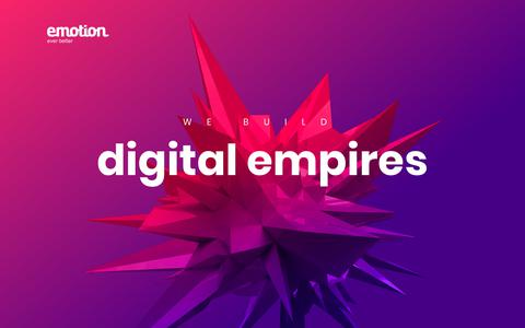 Screenshot of Home Page emotion.lt - e-commerce, Magento, web applications | emotion - captured Nov. 11, 2018