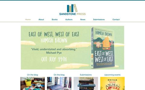 Screenshot of Home Page sandstonepress.com - Sandstone Press - captured July 27, 2018