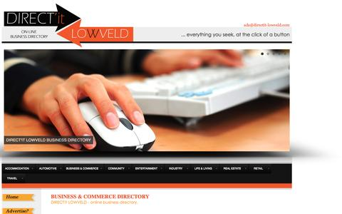 Screenshot of Services Page Terms Page directit-lowveld.com - Business Adverts on DIRECT'it LOWVELD | Lowveld Online Business Directory |  Mpumalanga Business Directory & Guide | Lowveld Online Advertising Website - captured Feb. 8, 2016