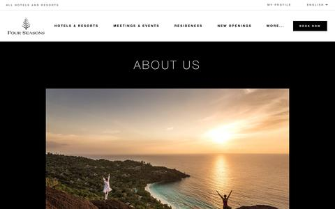 Screenshot of About Page fourseasons.com - About Four Seasons | Four Seasons Luxury Hotels & Resorts - captured June 27, 2018
