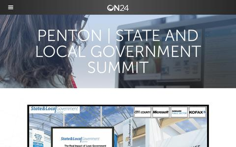Screenshot of Case Studies Page on24.com - Case Study: Penton Media virtual events boost ROI   ON24 - captured Oct. 12, 2017