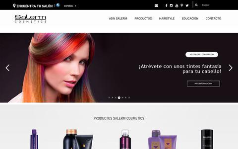 Screenshot of Home Page salerm.com - Expertos en color y cuidado del cabello | Salerm Cosmetics - captured June 26, 2017
