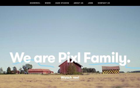 Screenshot of Home Page pixlfamily.com - Pixl Family - captured Dec. 9, 2015