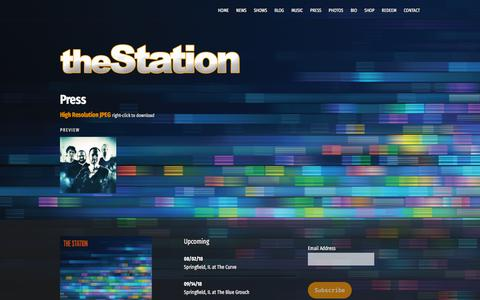 Screenshot of Press Page thestationmusic.com - Press – The Station - captured July 3, 2018