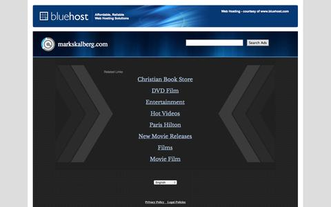 Screenshot of Home Page markskalberg.com - Web hosting provider - Bluehost.com - domain hosting - PHP Hosting - cheap web hosting - Frontpage Hosting E-Commerce Web Hosting Bluehost - captured Oct. 3, 2014