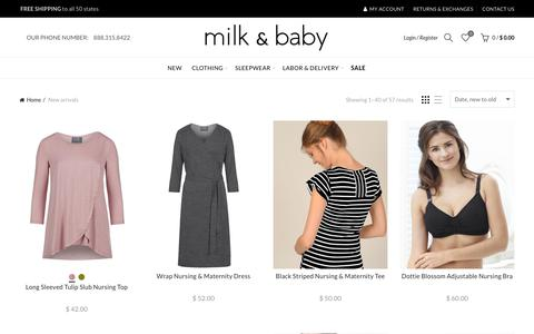 New Arrivals of Nursing Wear, Labor & Delivery, & Kangaroo Care – Milk & Baby