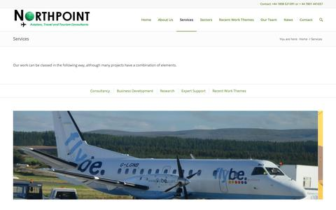Screenshot of Services Page northpointaviation.com - Northpoint Aviation Services |   Services - captured Oct. 27, 2017