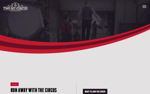 Screenshot of Jobs Page twobitcircus.com - Careers |  Two Bit Circus: Engineering Entertainment - captured June 17, 2017