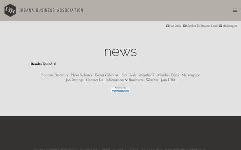 Screenshot of Press Page urbanabusiness.com - News - — Urbana Business Association - captured Dec. 21, 2016