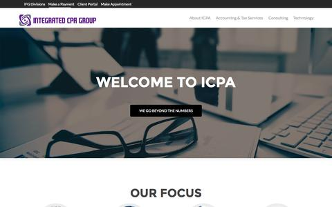 Screenshot of Home Page integratedcpa.com - Integrated CPA Group | Integrated CPA Group - captured Sept. 19, 2015
