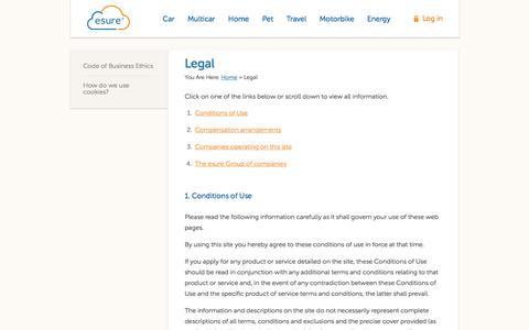 Legal | esure