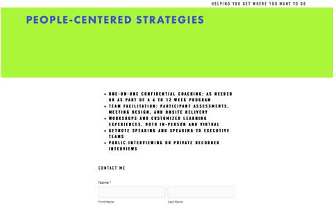 Screenshot of Contact Page pcs-partners.com - Contact — People-Centered Strategies - captured Sept. 27, 2018