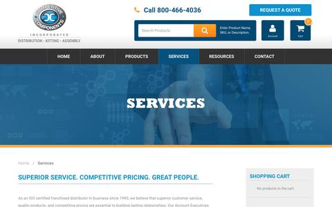 Screenshot of Services Page thinkcompetitive.com - Services - Competitive Components - captured Nov. 10, 2016