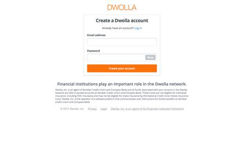 Screenshot of Signup Page dwolla.com - Dwolla   Sign up for a free account - captured Nov. 7, 2015