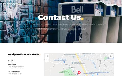 Screenshot of Contact Page imagesound.com - Contact us | Phone, email, chat or postal address | Imagesound - captured Dec. 6, 2019