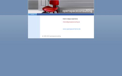 Screenshot of Home Page openspaceconsulting.de - home - www.openspaceconsulting.de - captured Dec. 19, 2016