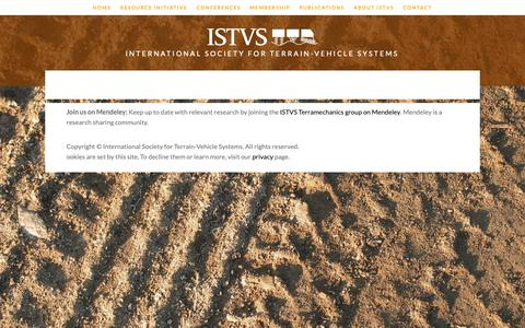 Screenshot of Privacy Page istvs.org - Privacy — ISTVS - captured Oct. 12, 2018