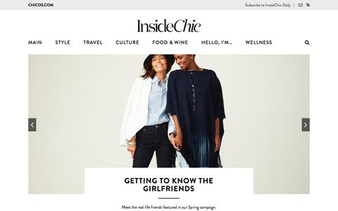 Screenshot of Blog chicos.com - Inside Chic – A Blog by Chico's - captured July 13, 2017