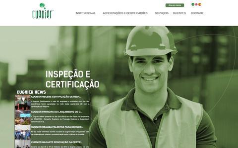Screenshot of Home Page cugnier.com - Cugnier Group - Inspeção e Certificação - captured Feb. 1, 2016
