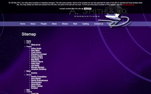 Screenshot of Site Map Page asmithco.com - Sitemap - captured Oct. 3, 2014