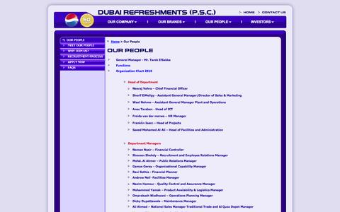Screenshot of Team Page pepsidrc.com - Dubai Refreshments (P.S.C.)|Meet Our People - captured Oct. 5, 2014