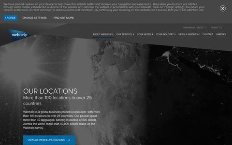 Screenshot of Locations Page webhelp.com - Our Locations - Webhelp - captured Sept. 21, 2018