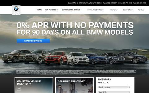 BMW Dealer Plano TX New & Used Cars for Sale near Dallas TX - Classic BMW