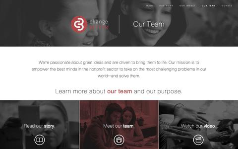 Screenshot of Team Page changebetter.org - Change Better - Our Team - captured July 17, 2018