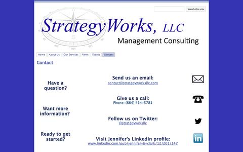 Screenshot of Contact Page google.com - Contact - StrategyWorks, LLC - captured Dec. 16, 2016