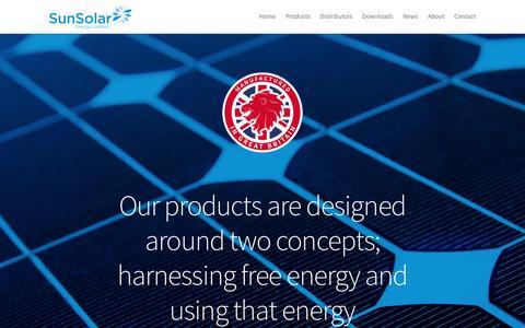 Screenshot of Products Page sunsolarenergy.co.uk - Products - SunSolar Energy Ltd - captured Feb. 16, 2016