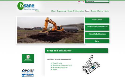 Screenshot of Press Page ixsane.com - Ixsane - Press - captured Oct. 14, 2017