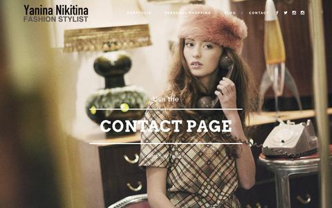 Screenshot of Home Page yaninanikitina.com - Yanina Nikitina London Fashion Stylist - captured March 26, 2016