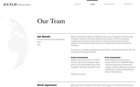 Screenshot of Team Page guildcap.com - Guild / Venture Further - captured Sept. 25, 2017