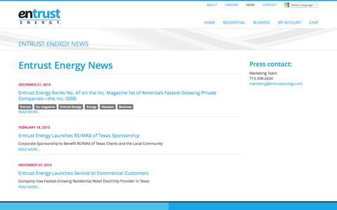 Entrust Energy - Entrust Energy News