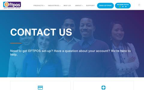 Screenshot of Contact Page eftpos.co.nz - Contact - EFTPOS NZ - captured Sept. 25, 2018