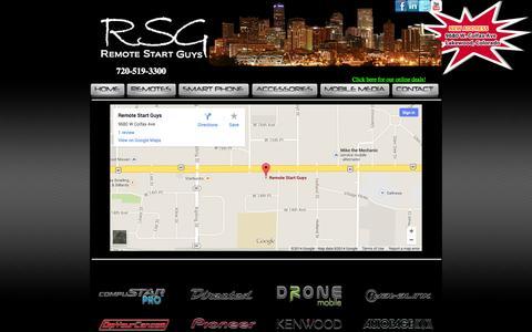 Screenshot of Contact Page remotestartguys.com - The Remote Start Guys - captured Oct. 8, 2014