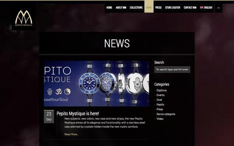 Screenshot of Press Page marcomavilla.com - newsmarcomavilla.com | Cool Unconventional Watches - captured Oct. 4, 2014