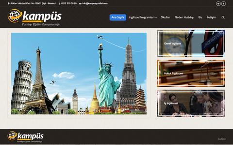 Screenshot of Home Page kampusyurtdisi.com - Kampüs Yurtdışı Eğitim Danışmanlığı | - captured Oct. 6, 2014